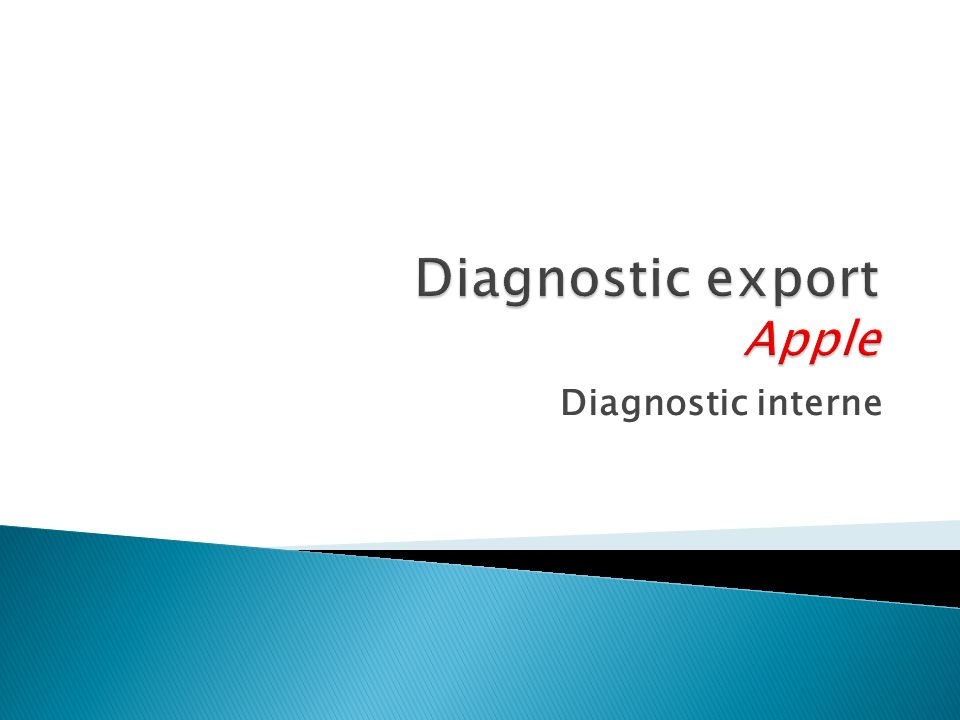 Diagnostic interne
