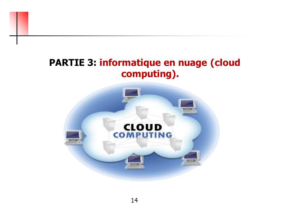 PARTIE 3: informatique en nuage (cloud computing). 14