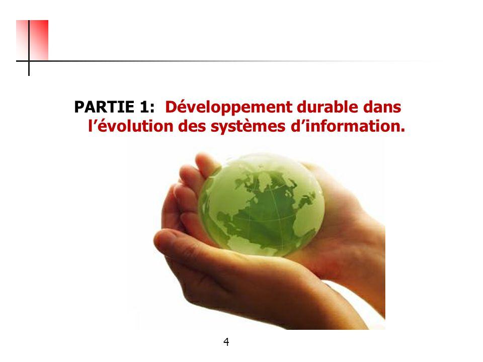PARTIE 1: Développement durable dans lévolution des systèmes dinformation. 4