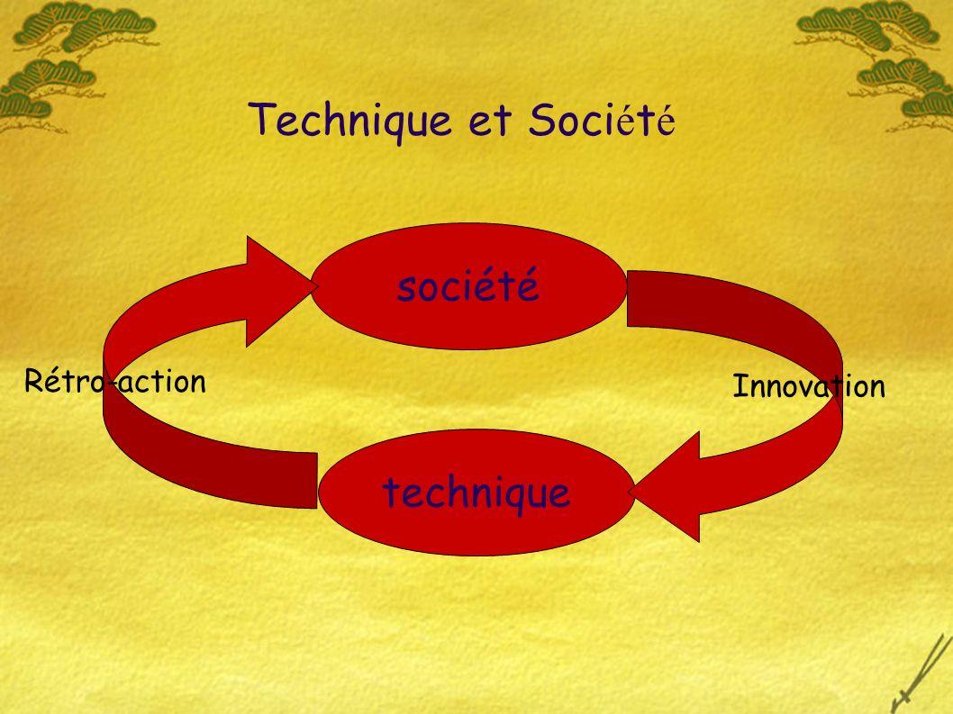 Technique et Soci é t é société technique Innovation Rétro-action