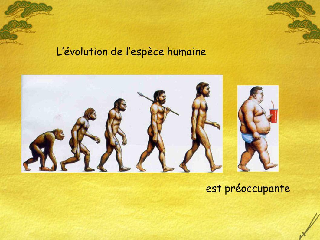Lévolution de lespèce humaine est préoccupante