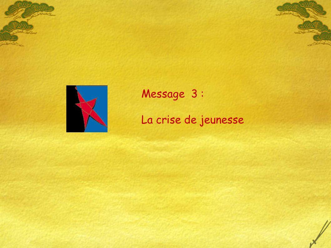 Message 3 : La crise de jeunesse
