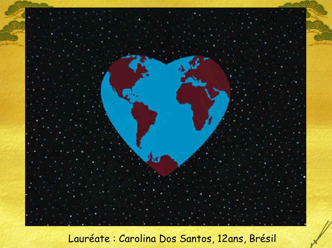 Lauréate : Carolina Dos Santos, 12ans, Brésil