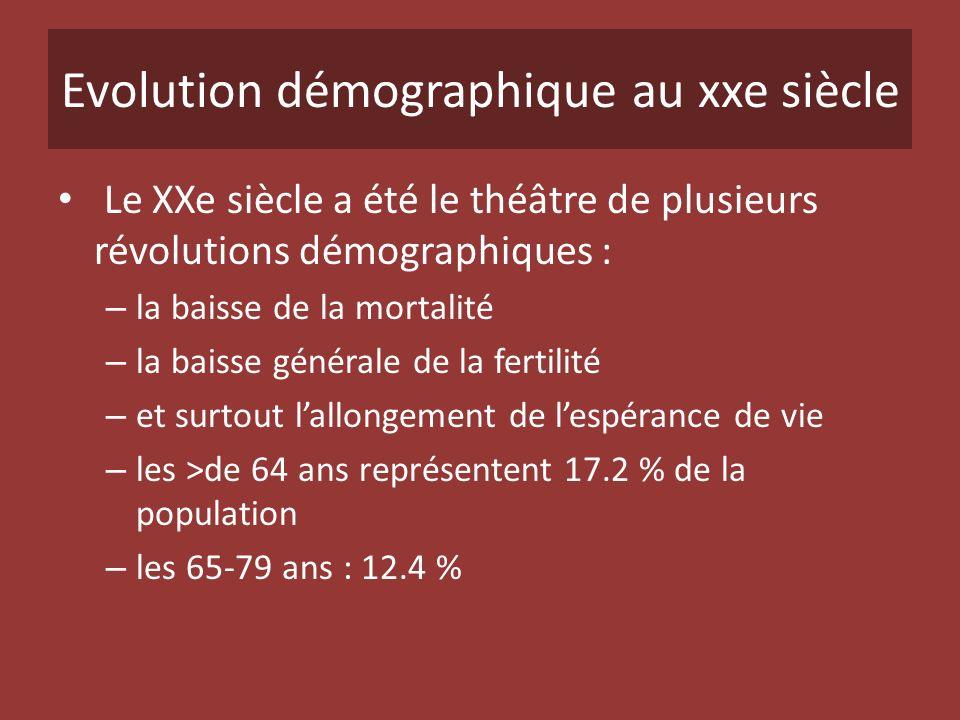 Evolution démographique au xxe siècle Le XXe siècle a été le théâtre de plusieurs révolutions démographiques : – la baisse de la mortalité – la baisse