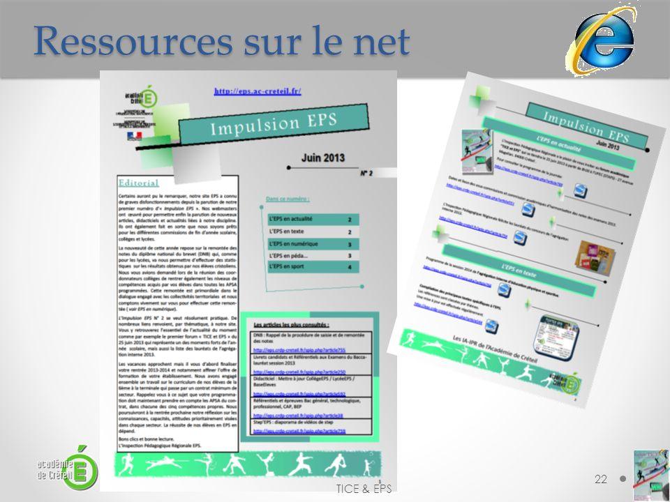 Ressources sur le net 22 TICE & EPS
