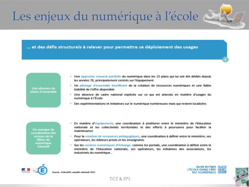 TICE & EPS 8 Les enjeux du numérique à lécole