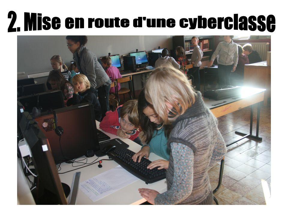Cohabitation, dans le même local, de la bibliothèque documentaire de lécole et de la cyberclasse (8 ordinateurs) Octroi dun mi-temps supplémentaire par la Fédération Wallonie-Bruxelles.