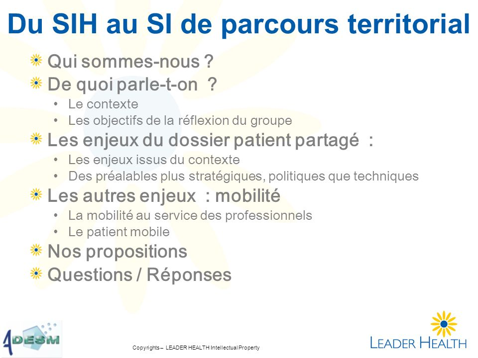 Copyrights – LEADER HEALTH Intellectual Property Qui sommes nous .