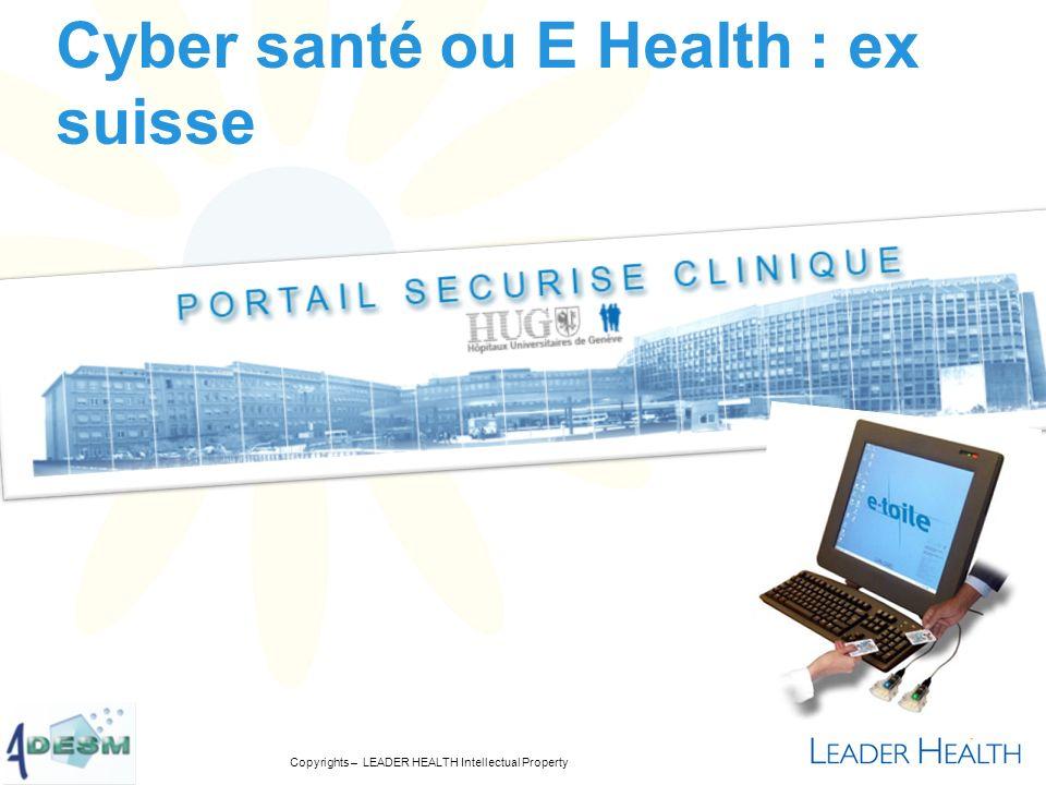 Cyber santé ou E Health : ex suisse