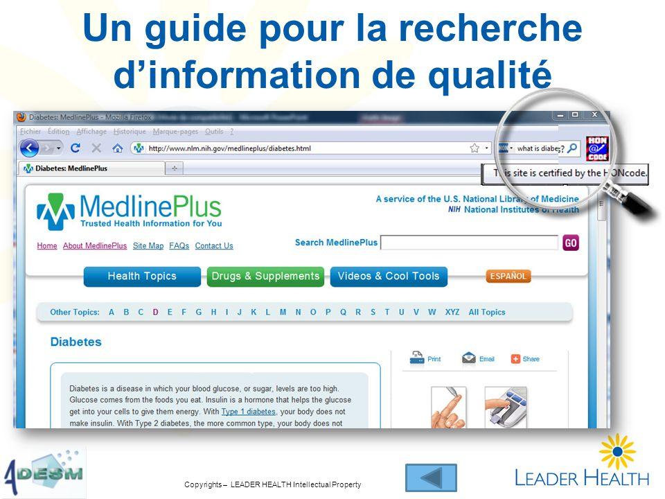 Un guide pour la recherche dinformation de qualité