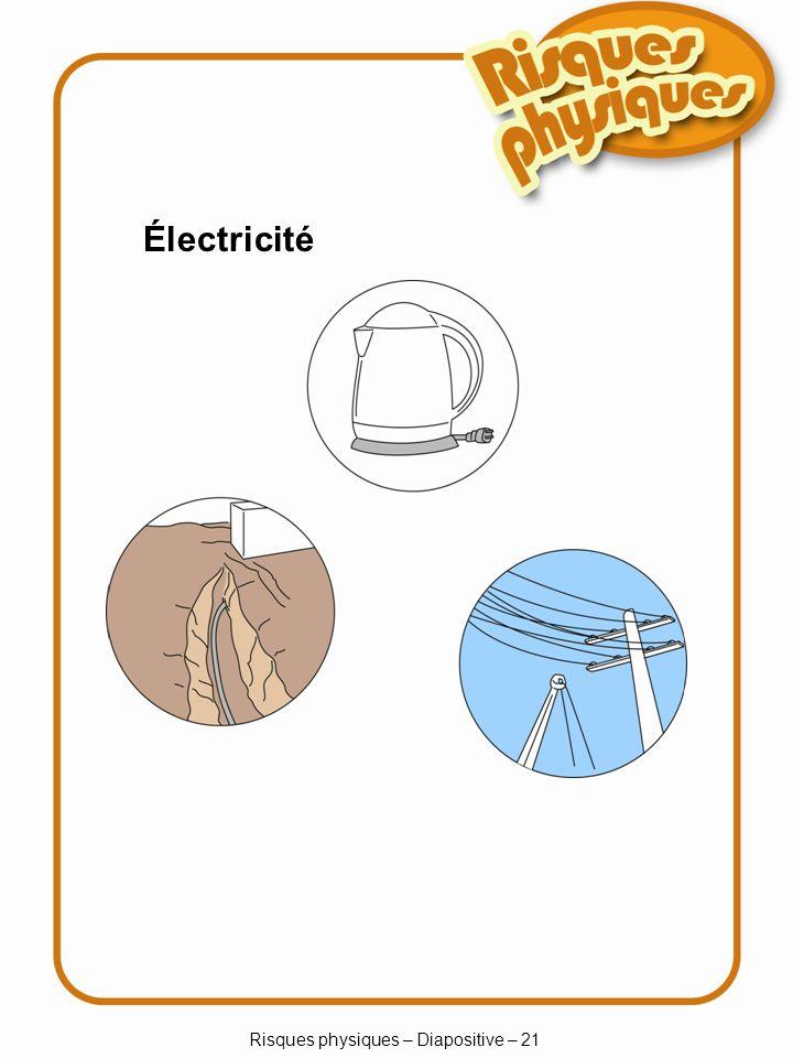 Risques physiques – Diapositive – 21 Électricité