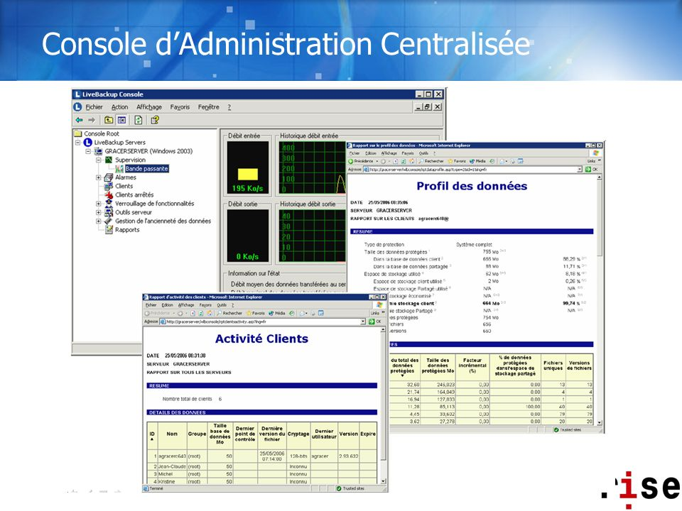Console dAdministration Centralisée