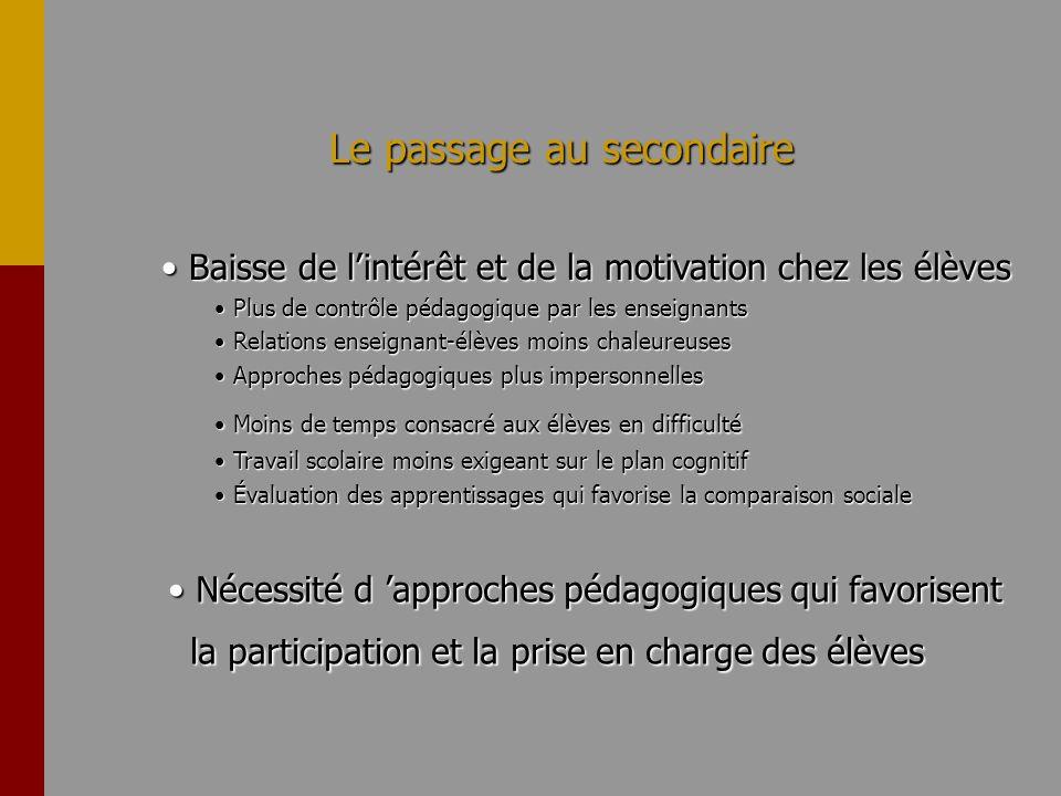 Croyances motivationnelles et engagement EfficacitéValeurEngagement personnelleintrinsèque M FM FMF M FM FMF Org.