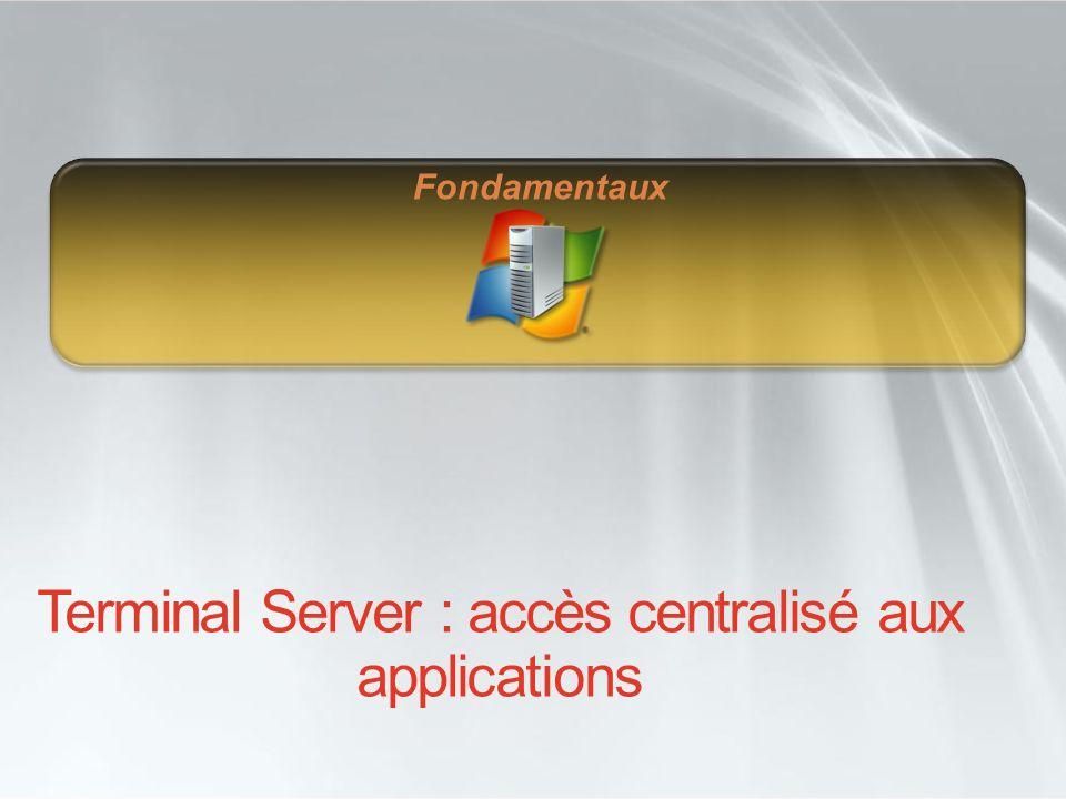 Terminal Server : accès centralisé aux applications Fondamentaux