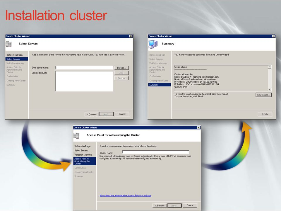 i… Cluster Administrator aujourdhui… Nouvelle console MMC