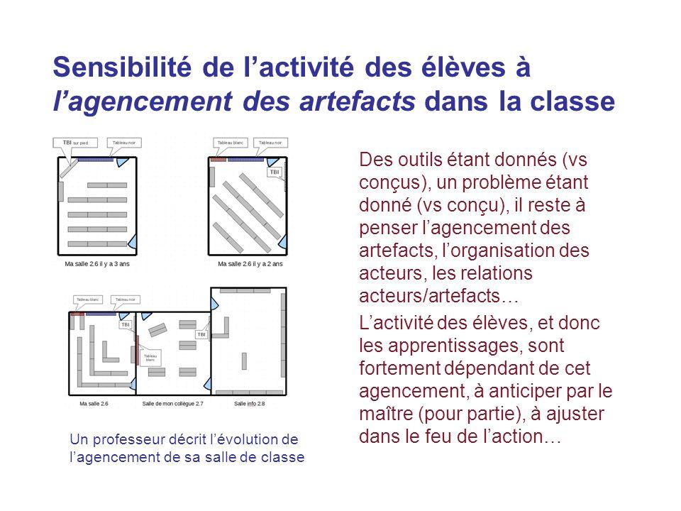 Des outils étant donnés (vs conçus), un problème étant donné (vs conçu), il reste à penser lagencement des artefacts, lorganisation des acteurs, les r