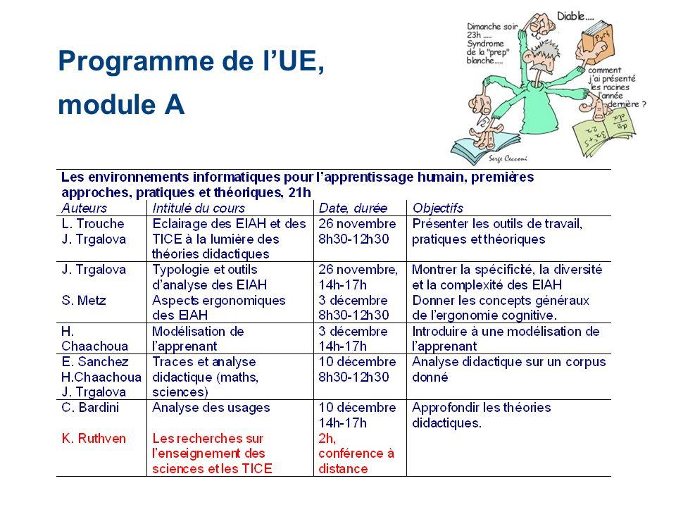 Programme de lUE, module A