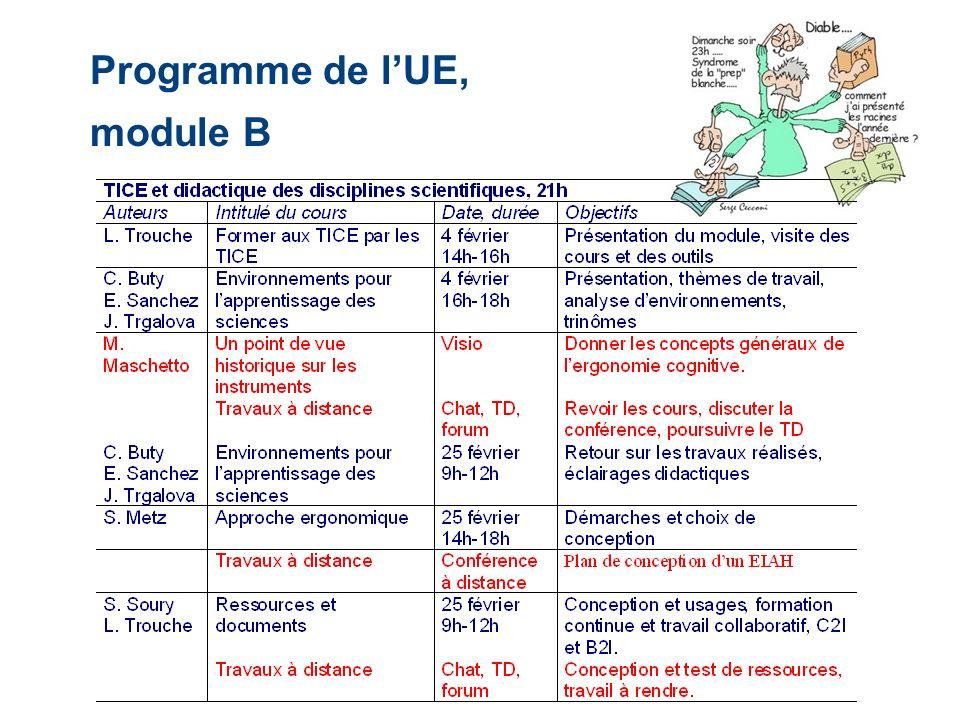 Programme de lUE, module B