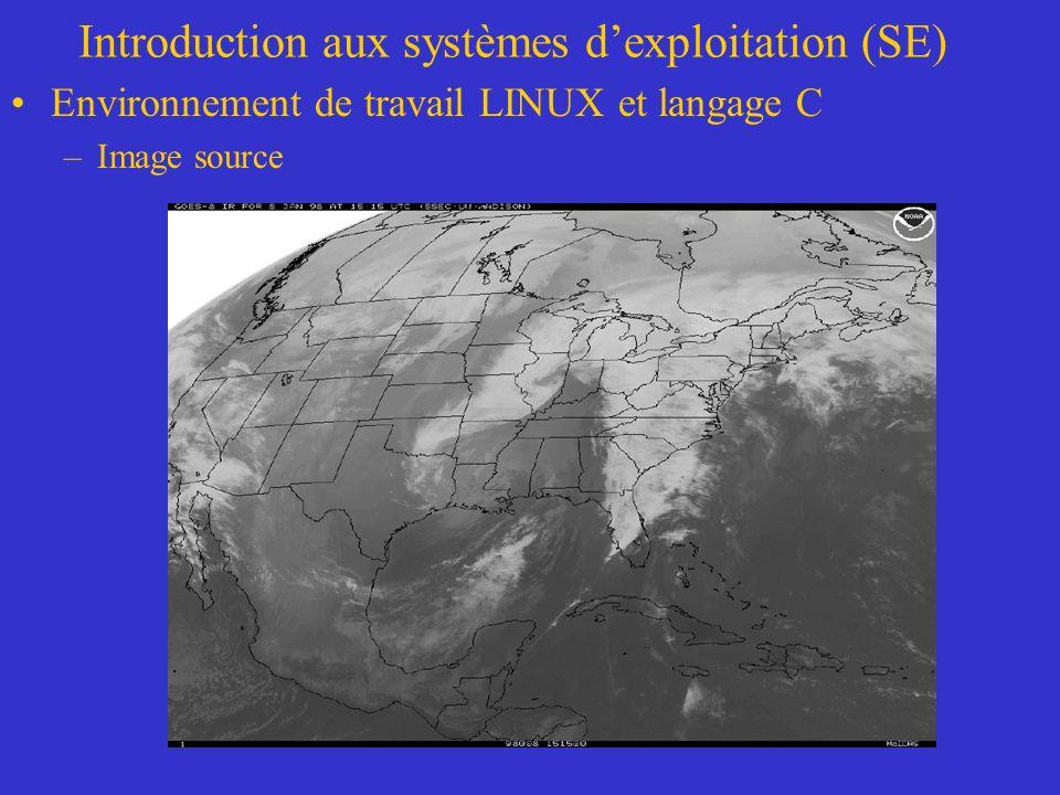 Introduction aux systèmes dexploitation (SE) Environnement de travail LINUX et langage C –Image source