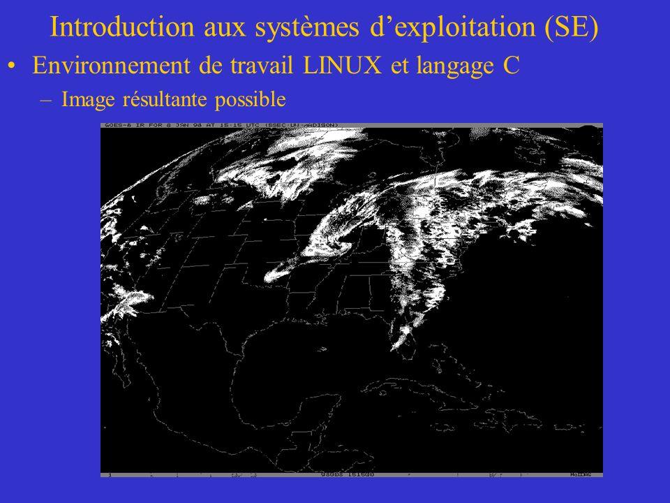 Introduction aux systèmes dexploitation (SE) Environnement de travail LINUX et langage C –Image résultante possible