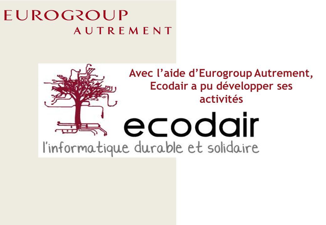 ECODAIR 1 Ecodair est une entreprise Ecodair est une entreprise de reconditionnement de matériel informatique (ordinateurs portables/fixes, imprimantes) ayant pour particularité d employer des personnes handicapées psychiques ou en insertion.