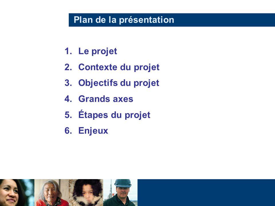 Le 1er projet complet de télémédecine au QC Projet de télémédecine complet Implantation dune solution télésanté Implantation de corridors de services Intégration au plan de santé pour un programme diabète complet 1.Le projet 2.Contexte 3.Objectifs 4.Grands axes 5.Étapes 6.Enjeux