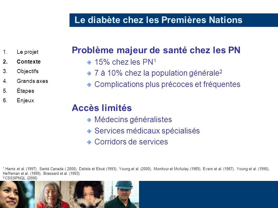 Le diabète chez les Premières Nations Problème majeur de santé chez les PN 15% chez les PN 1 7 à 10% chez la population générale 2 Complications plus