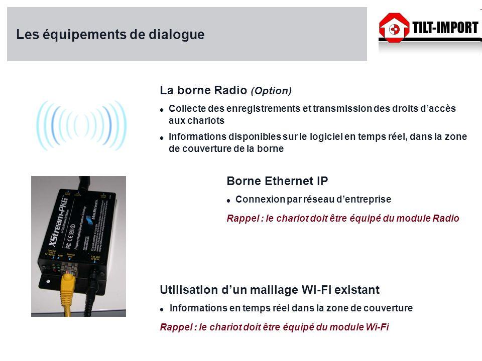 Les équipements de dialogue Utilisation dun maillage Wi-Fi existant Informations en temps réel dans la zone de couverture Rappel : le chariot doit êtr