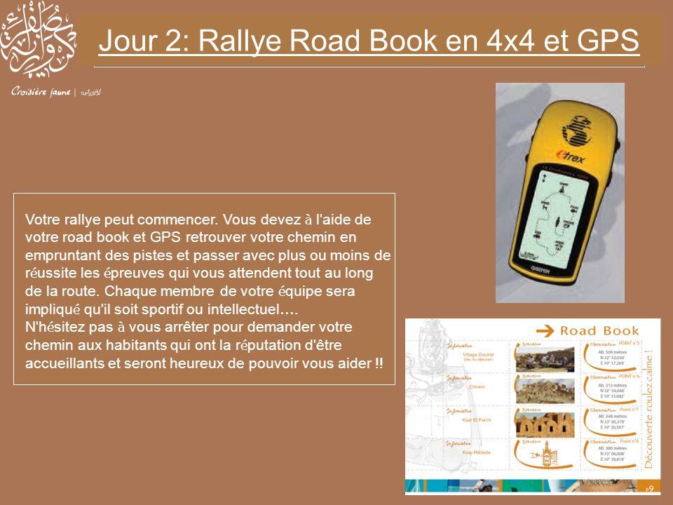 Votre rallye peut commencer. Vous devez à l'aide de votre road book et GPS retrouver votre chemin en empruntant des pistes et passer avec plus ou moin