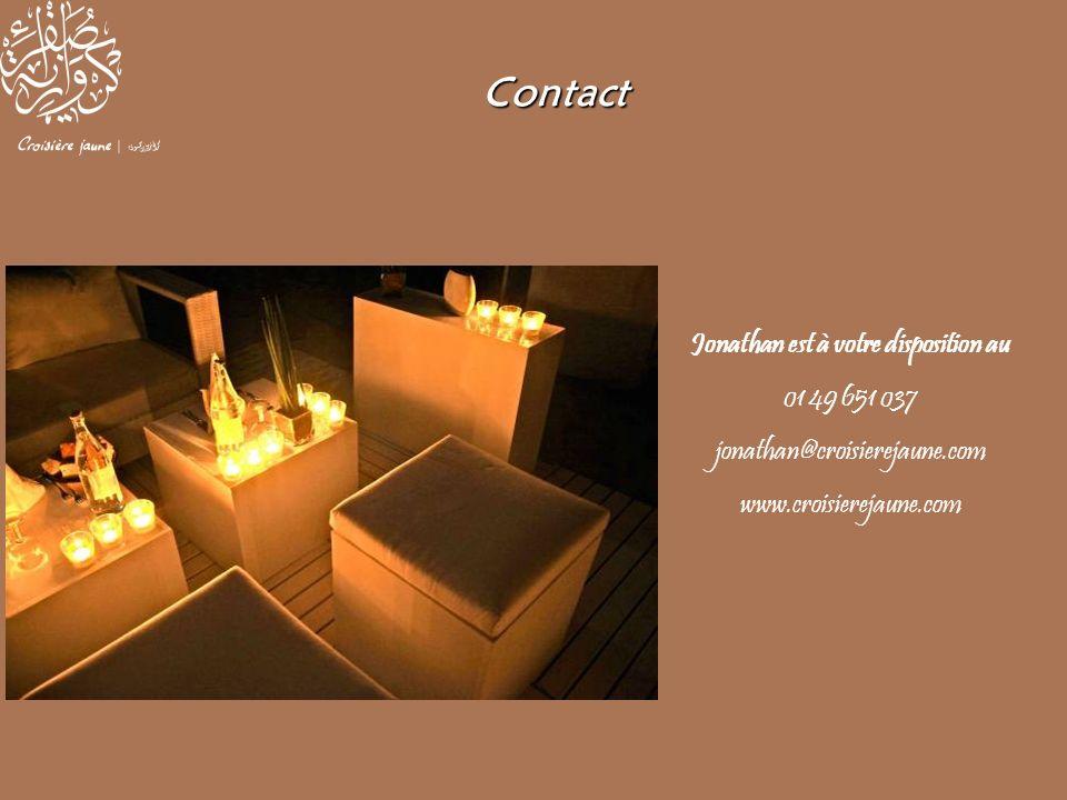 Jonathan est à votre disposition au 01 49 651 037 jonathan@croisierejaune.com www.croisierejaune.com Contact