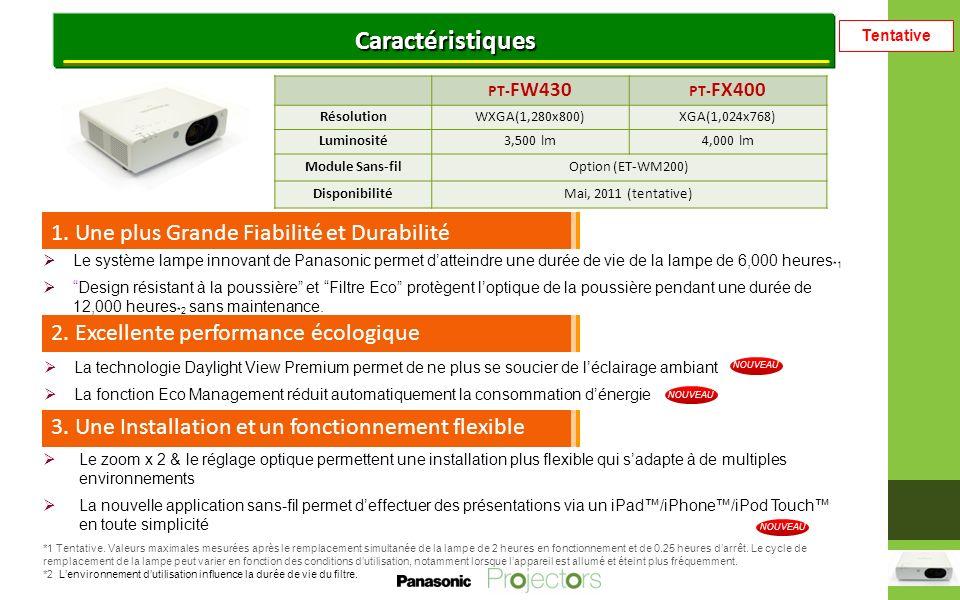 Tentative Caractéristique 1: Une plus Grande Fiabilité et Durabilité 1.