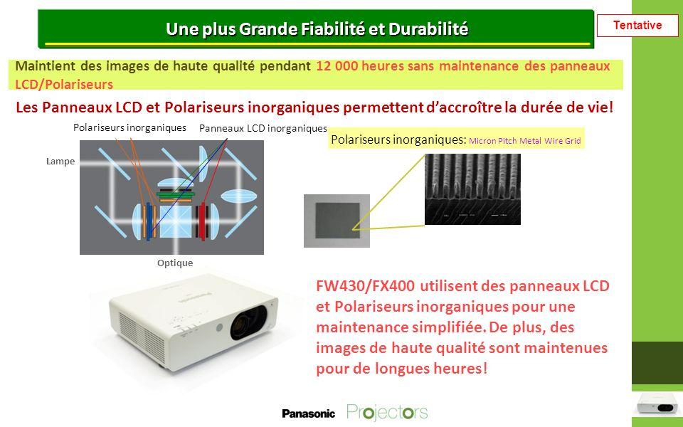 Tentative Une installation et un fonctionnement flexible Utile en cas de remplacement, Emulate mode Lorsque vous remplacez un projecteur Panasonic traditionnel, vous pouvez utiliser la même commande RS-232C.