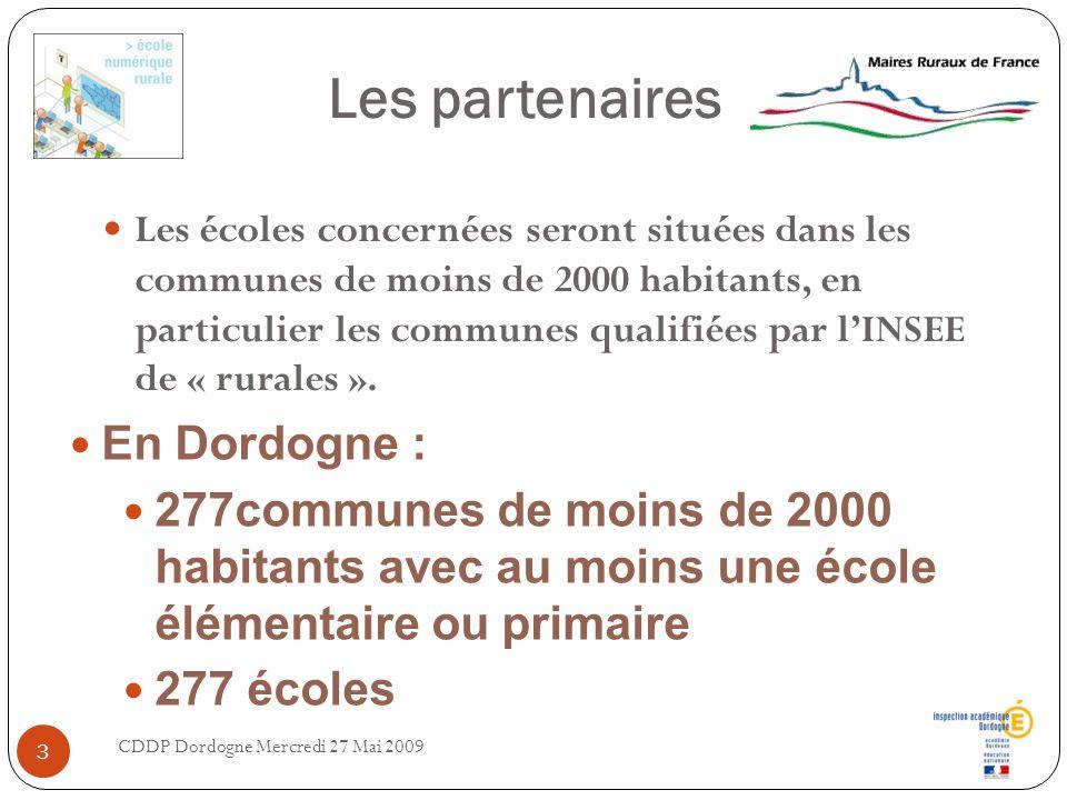 Les partenaires Les écoles concernées seront situées dans les communes de moins de 2000 habitants, en particulier les communes qualifiées par lINSEE d