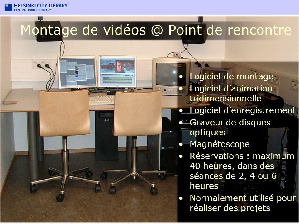 Montage de vidéos @ Point de rencontre Logiciel de montage Logiciel danimation tridimensionnelle Logiciel denregistrement Graveur de disques optiques