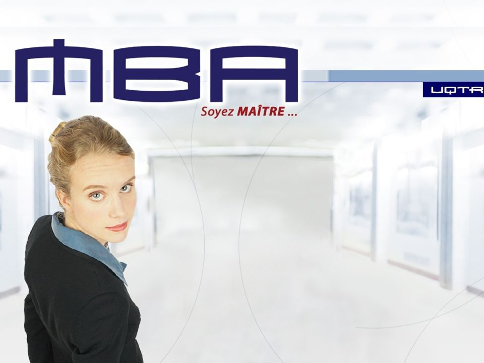 Afin de compléter une demande dadmission, vous devez: 1- Compléter le Formulaire dadmission sur le web: WWW.UQTR.CA ACCÈS DIRECT Admission ADMISSION EN LIGNE (compléter le formulaire en ligne) MBA-CMA (5458) Appellation du programme par lUQTR Maîtrise en administration des affaires (MBA - CMA) Numéro du programme5458 TrimestreÉté 2010 MBA-CMA Demande dadmission