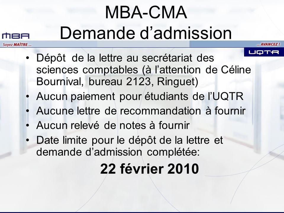Dépôt de la lettre au secrétariat des sciences comptables (à lattention de Céline Bournival, bureau 2123, Ringuet) Aucun paiement pour étudiants de lU