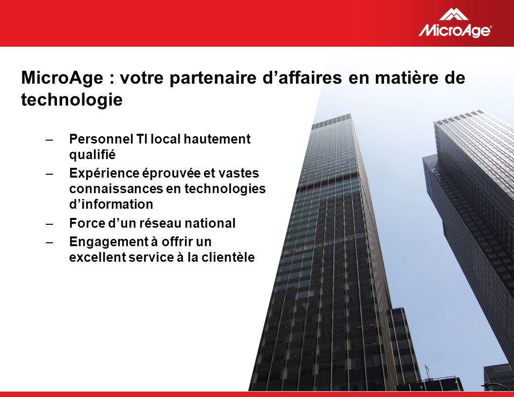 © 2006 MicroAge MicroAge : votre partenaire daffaires en matière de technologie –Personnel TI local hautement qualifié –Expérience éprouvée et vastes