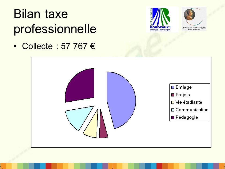 Bilan taxe professionnelle Collecte : 57 767