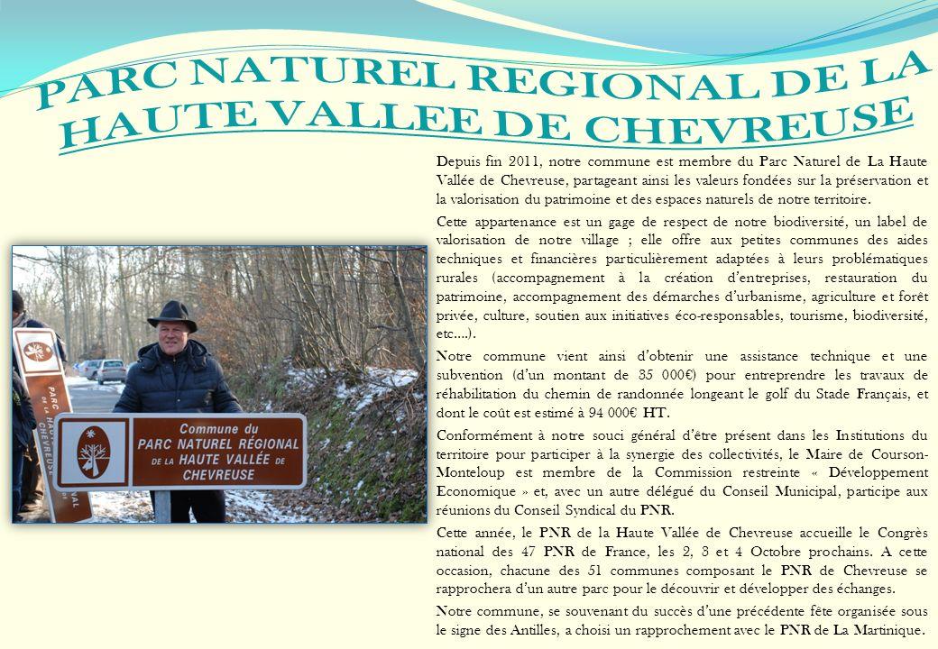 Depuis fin 2011, notre commune est membre du Parc Naturel de La Haute Vallée de Chevreuse, partageant ainsi les valeurs fondées sur la préservation et
