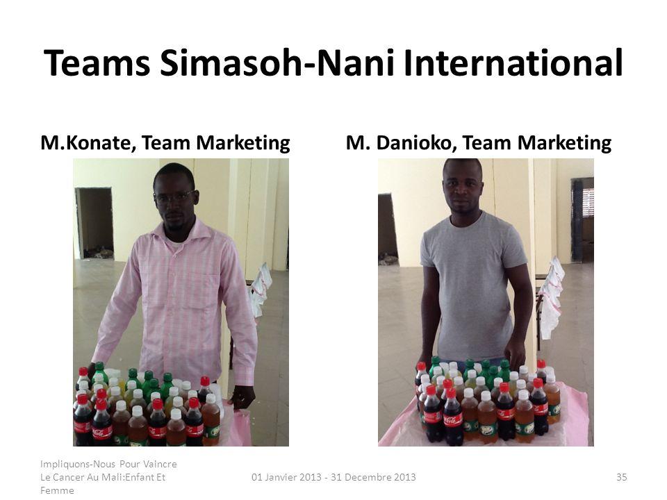 Teams Simasoh-Nani International M.Konate, Team MarketingM. Danioko, Team Marketing Impliquons-Nous Pour Vaincre Le Cancer Au Mali:Enfant Et Femme 01