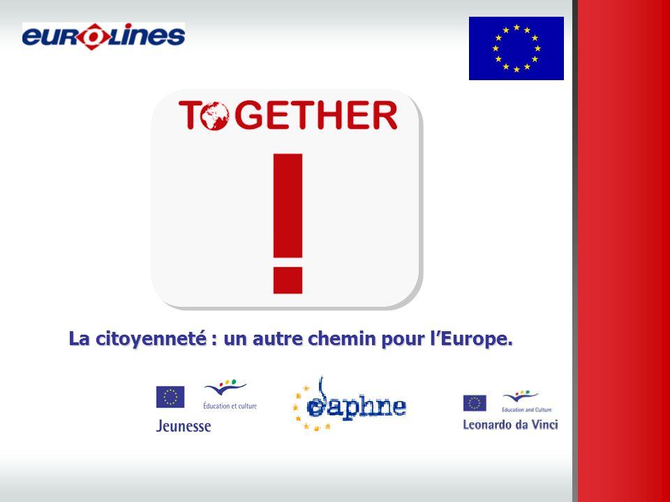 Notre spécificité, nos atouts : - Une nouvelle association, résolument citoyenne - Une équipe Européenne - Des savoirs-faire sur les dispositifs européens - Un réseau dans toute lEurope et dans de nombreux pays partenaires