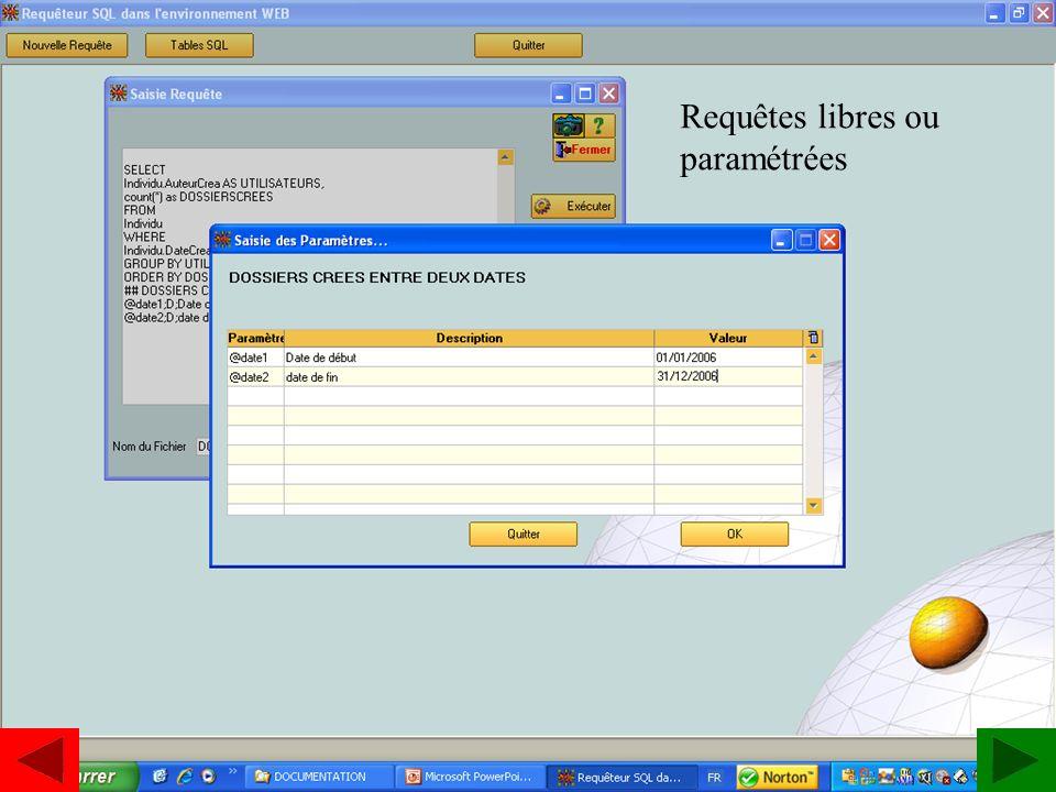 www.estavoyer.com SMP Utilisation requêteur Requêtes libres ou paramétrées