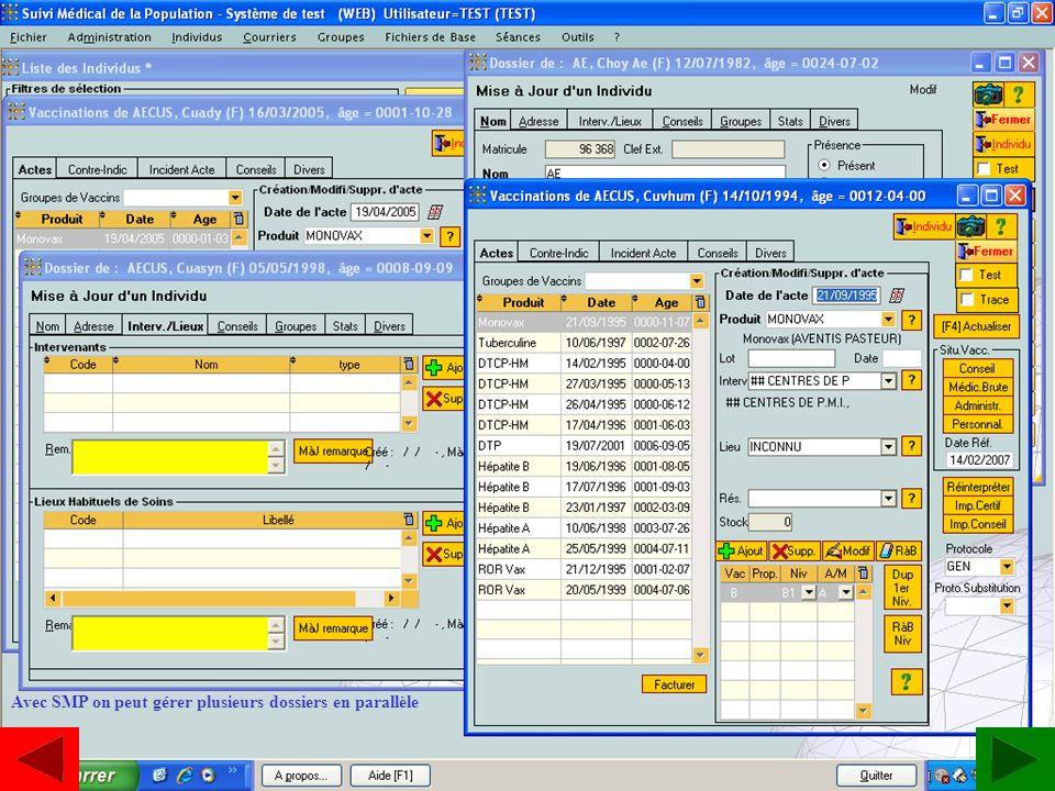 www.estavoyer.com SMP Dossiers en parallèle Avec SMP on peut gérer plusieurs dossiers en parallèle