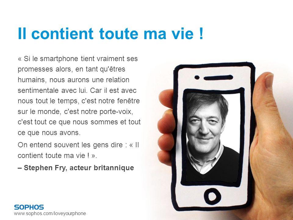 www.sophos.com/loveyourphone Petit rappel historique : Les portables se développent aujourdhui à un rythme sans précédent.