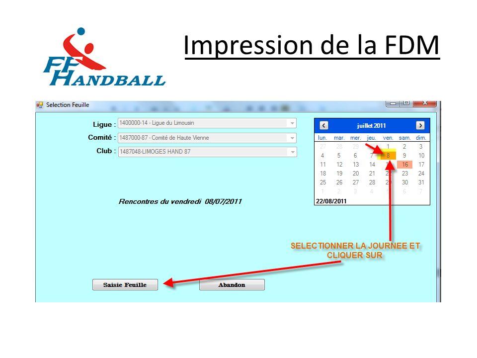 Impression de la FDM