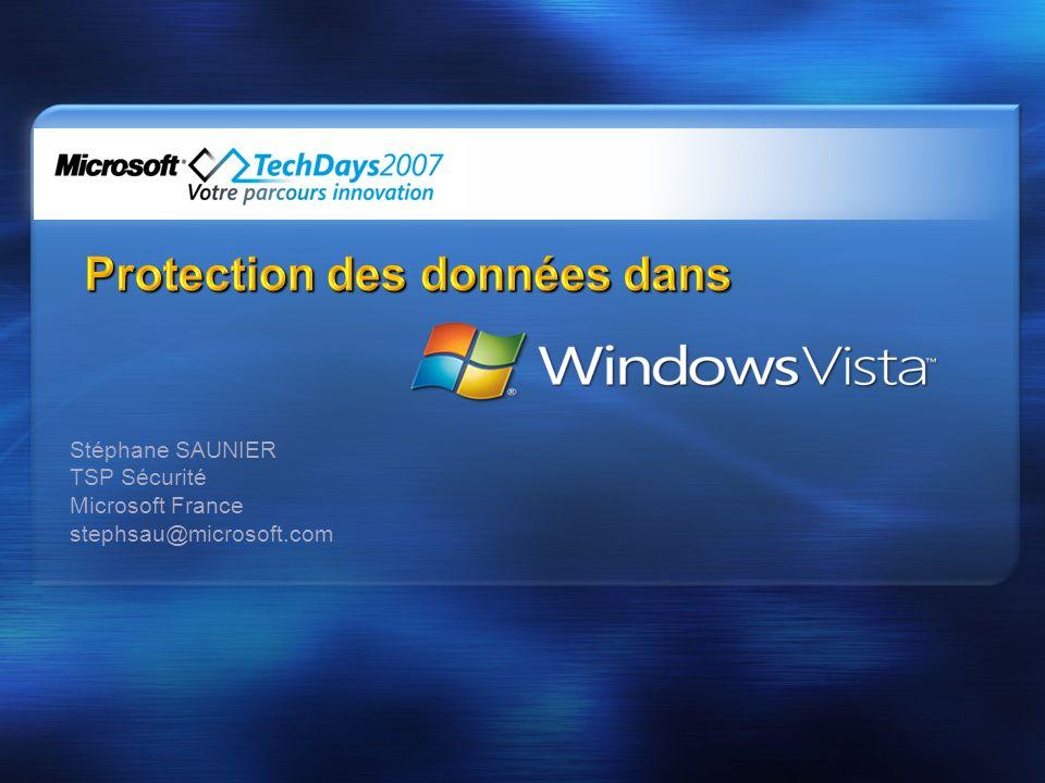Stéphane SAUNIER TSP Sécurité Microsoft France stephsau@microsoft.com