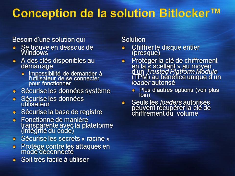 Besoin dune solution qui Se trouve en dessous de Windows A des clés disponibles au démarrage Impossibilité de demander à lutilisateur de se connecter