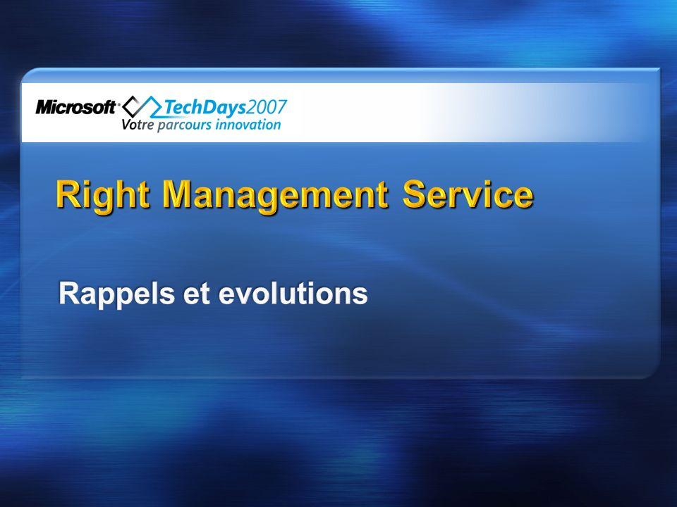 DRM pour lentreprise et DRM pour les médias Gestion de droits numériques en entreprise (IRM) DRM pour les médias (Windows Media DRM) Contenu Entreprise Documents, email, pages web, etc.