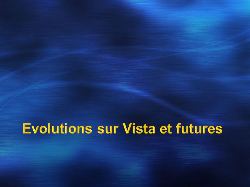 La partie cliente dans Vista ( plus de téléchargement/distribution necessaire ) RMS V2 Client sera compatible avec RMS Server V1.
