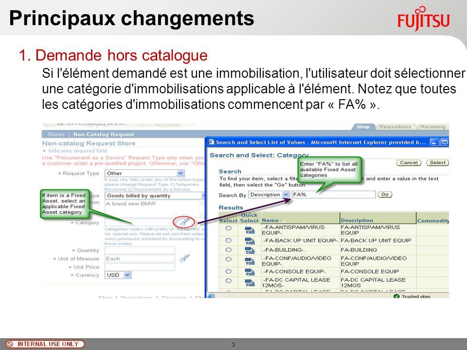 © Fujitsu Limited, 2010 Principaux changements 1.